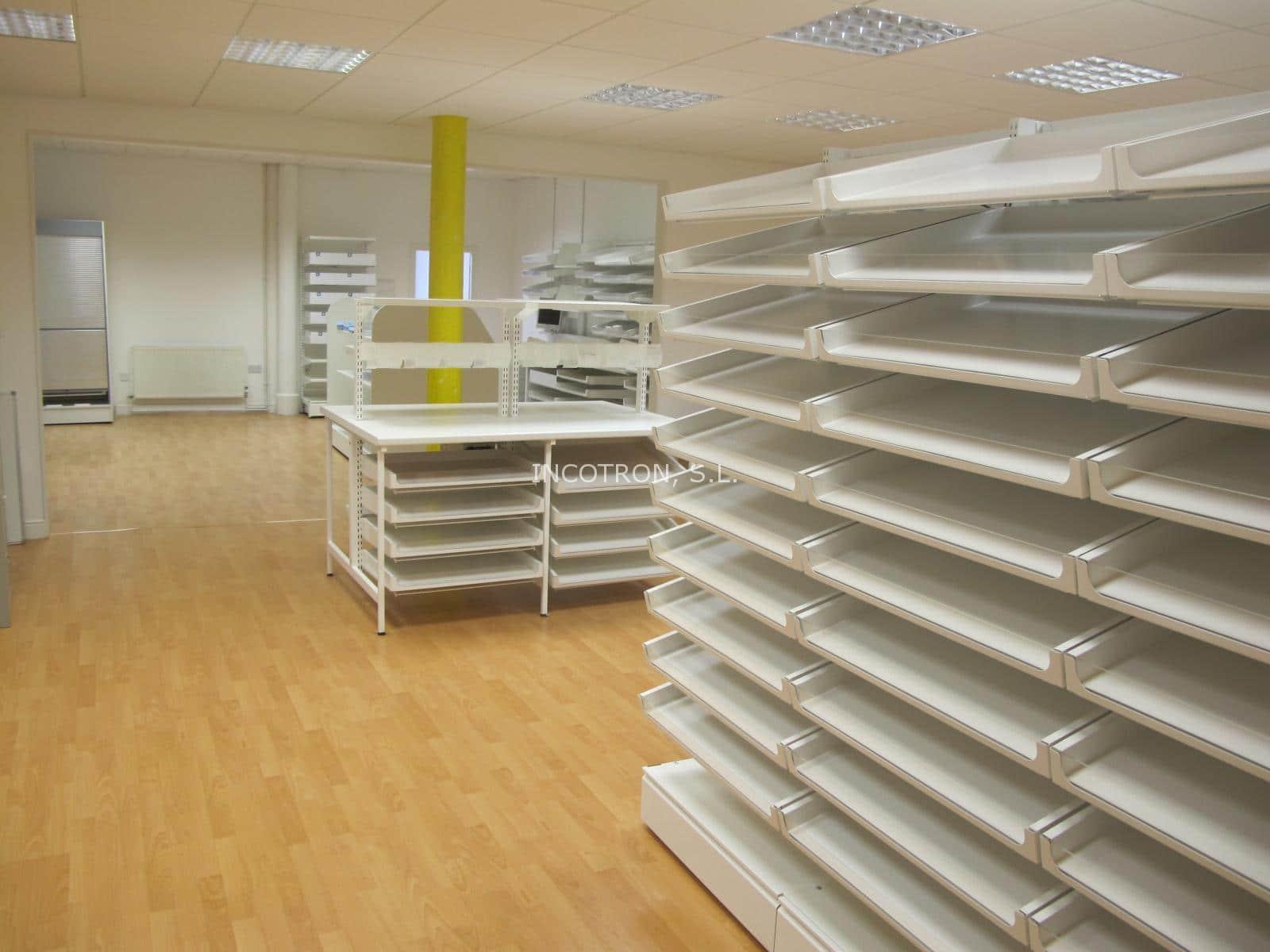 Mobiliario para almacenaje en farmacia hospitalaria