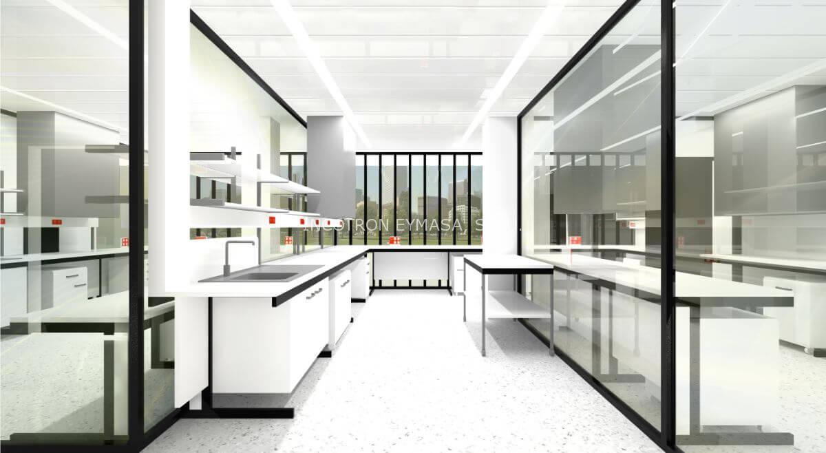proyecto de mobiliario de laboratorio