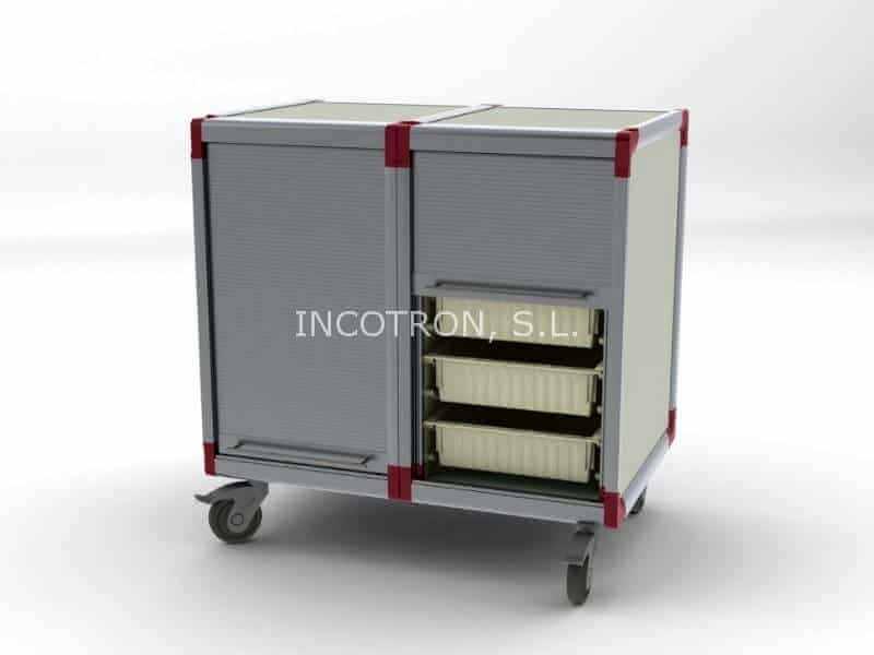 mobiliario farmacia carro transporte general