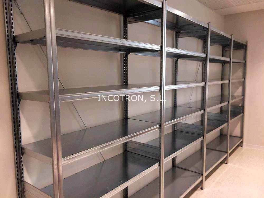 mobiliario farmacia estanteria metalica